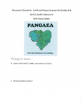 Discovery Education Unit 2 Review: Earth and Space Science: Earth's Structure