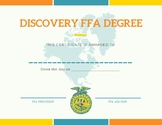 Discovery FFA Degree Certificate