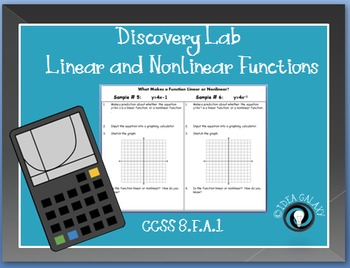 Linear Functions and Nonlinear Functions Discovery Lab