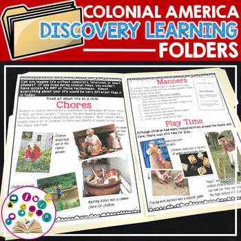 Discovery Learning Folders:  Daily Colonial Life