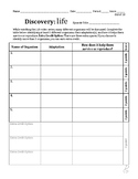 Discovery: Life Video Series Worksheet