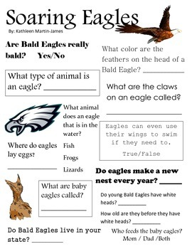 Discovery Reading Worksheet: Soaring Eagles