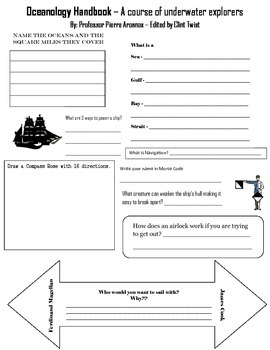 Discovery Reading Worksheet:Oceanography