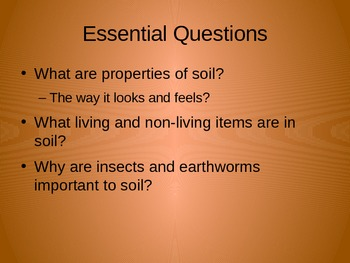 """Discovery Science 1st Grade """"Living in Soil"""" Power Point"""