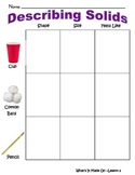 """Discovery Science 1st Grade """"Material Properties: What's it Made of"""" Worksheets"""