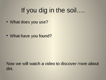 "Discovery Science 1st Grade ""What's in the Soil"" Power Point"