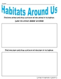 """Discovery Science First Grade """"Living in Habitats"""" Worksheets Lesson Papers"""