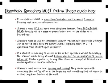 Discovery Speeches: Public Speaking and Independent Research Presentations ELA