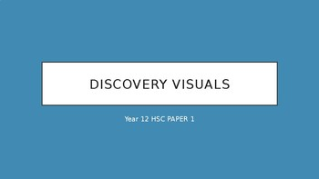 Discovery Visuals Revision for Year 12 English HSC