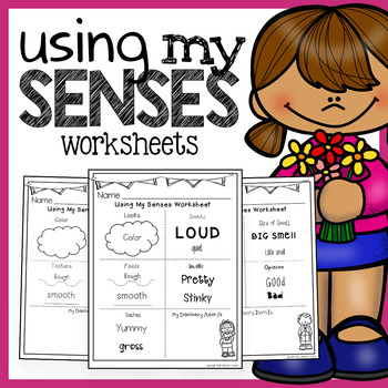 Using My Senses: 7 Science Worksheets for Discovering the