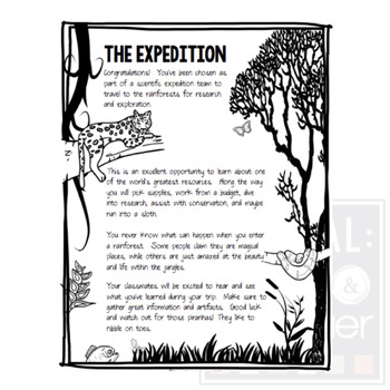 Project Based Learning: To the Rainforest! (PBL) For Print & Google Classroom