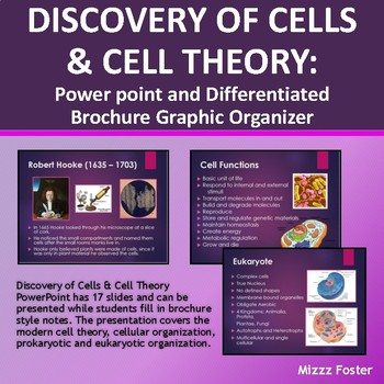 Discovery of Cells & Cell Theory Power Point and Differentiated Brochure Notes