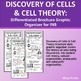 Discovery of Cells & Cell Theory PowerPoint Brochure Graphic Organizer for INB