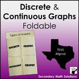 Discrete & Continuous Graphs Foldable (A2A)