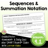 Sequences and Summation Notation with Lesson Video (Unit 9)