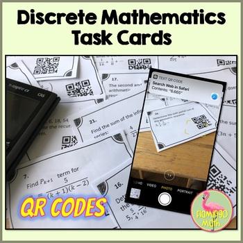 PreCalculus: Discrete Mathematics Task Cards With QR Codes
