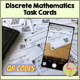 Discrete Mathematics Task Cards with QR Codes (PreCalculus