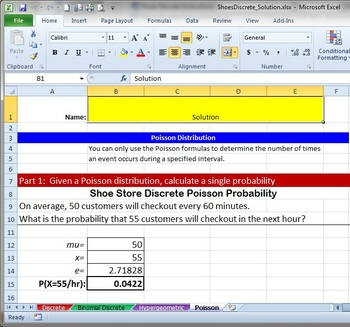 Discrete Probabilities, Binomial, Hypergeometric, and Poisson
