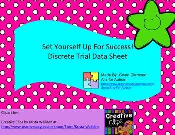 Discrete Trial Data Sheet