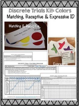 Discrete Trial Kit: Colors (Matching, Receptive, Expressive) ABA, Autism