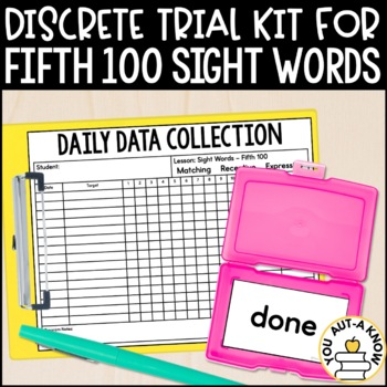 Discrete Trial Lessons for Sight Words Fifth 100
