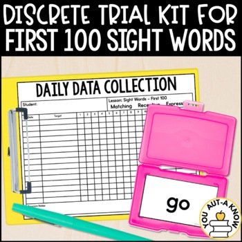 Discrete Trial Lessons for Sight Words First 100