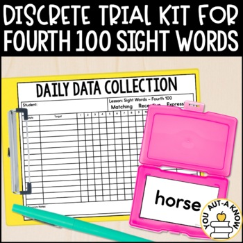 Discrete Trial Lessons for Sight Words Fourth 100