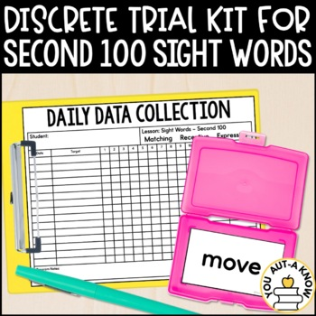 Discrete Trial Lessons for Sight Words Second 100