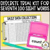 Discrete Trial Lessons for Sight Words Seventh 100