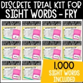 Discrete Trial Lessons for Sight Words THE FRY BUNDLE