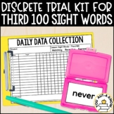 Discrete Trial Lessons for Sight Words Third 100