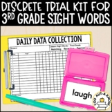 Discrete Trial Lessons for Sight Words Third Grade