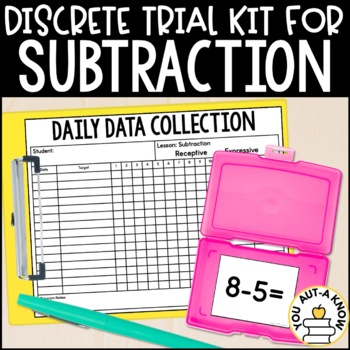 Discrete Trial Lessons for Subtraction Facts 0-10