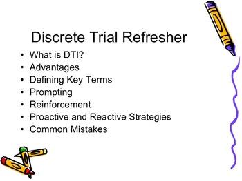 Discrete Trial Refresher Course