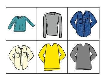 Discrete Trial Teaching KIt:  Clothing Items