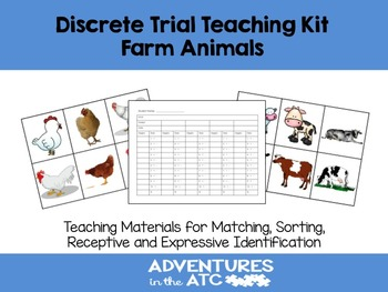 Discrete Trial Teaching KIt:  Farm Animals