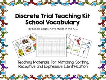 Discrete Trial Teaching KIt:  School Vocabulary 