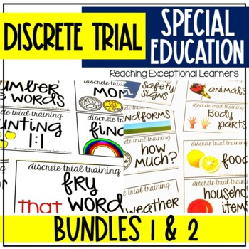 Discrete Trial Training Basic Skills Bundle 1 & Bundle 2 for Special Education
