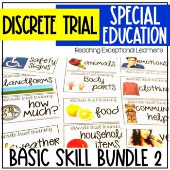 Discrete Trial Training Basic Skills Bundle 1 & Bundle 2 for Special Education