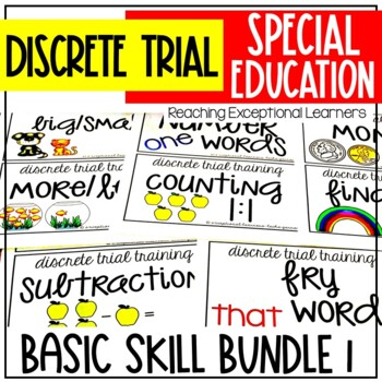 Discrete Trial Training Basic Skills Bundle 1 for Special Education