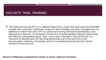 Discrete Trial Training (DTT) PowerPoint