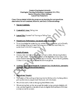 Discrete Trial Training - Telling Time (Life Skills)