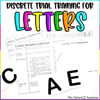 Discrete Trial Training Uppercase and Lowercase Letter Lesson Bundle