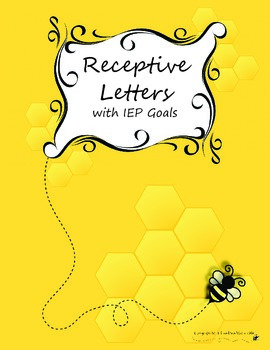 Discrete Trial/ABA Receptive Letters with IEP Goals