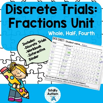 Discrete Trials: Fractions Unit (VAAP)
