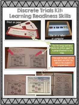 Discrete Trials Kit: Beginning Learner Skills (ABA, Autism, Special Ed.)