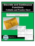 Discrete and Continuous Foldable and Practice Sheet