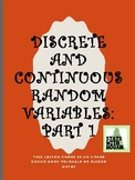 AP Statistics-Discrete and Continuous Random Variables:Probability Distributions