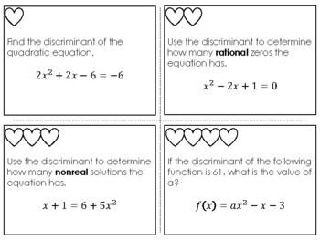 Discriminant Activity - Ready for Sum Math!