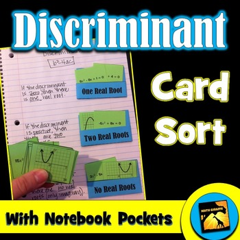 Discriminant Card Sort (for Quadratic Equations)